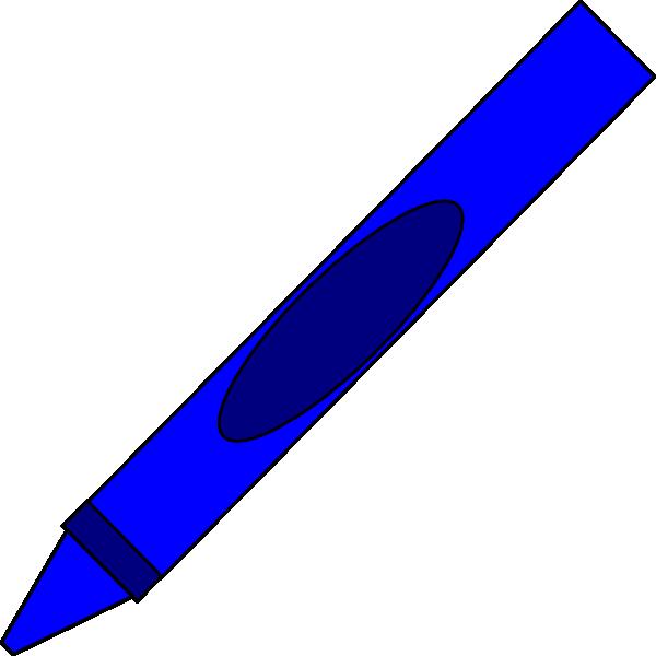 600x600 Blue Crayon Clipart