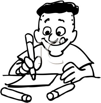 342x350 Crayon Drawing Clipart