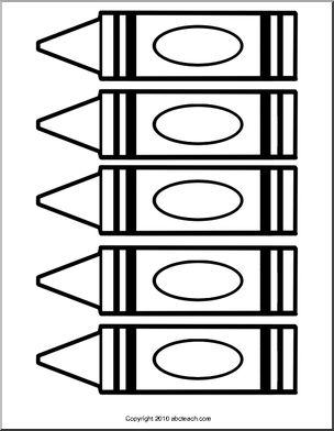 304x392 Crayon Clipart Outline