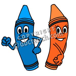 300x300 Cartoon Crayons Clipart