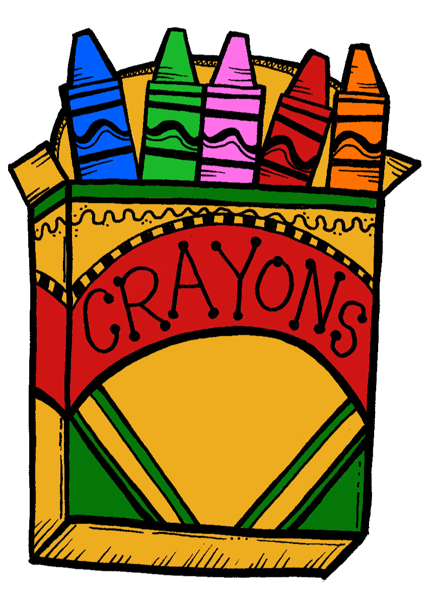 862x1172 Free Crayon Box Clipart Image