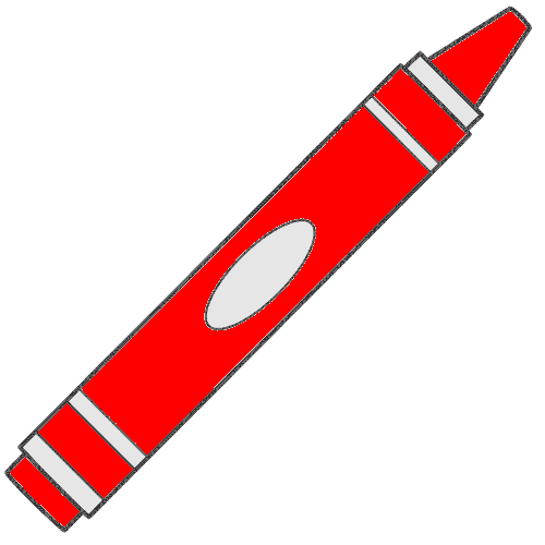 500x500 Red Crayon Clipart