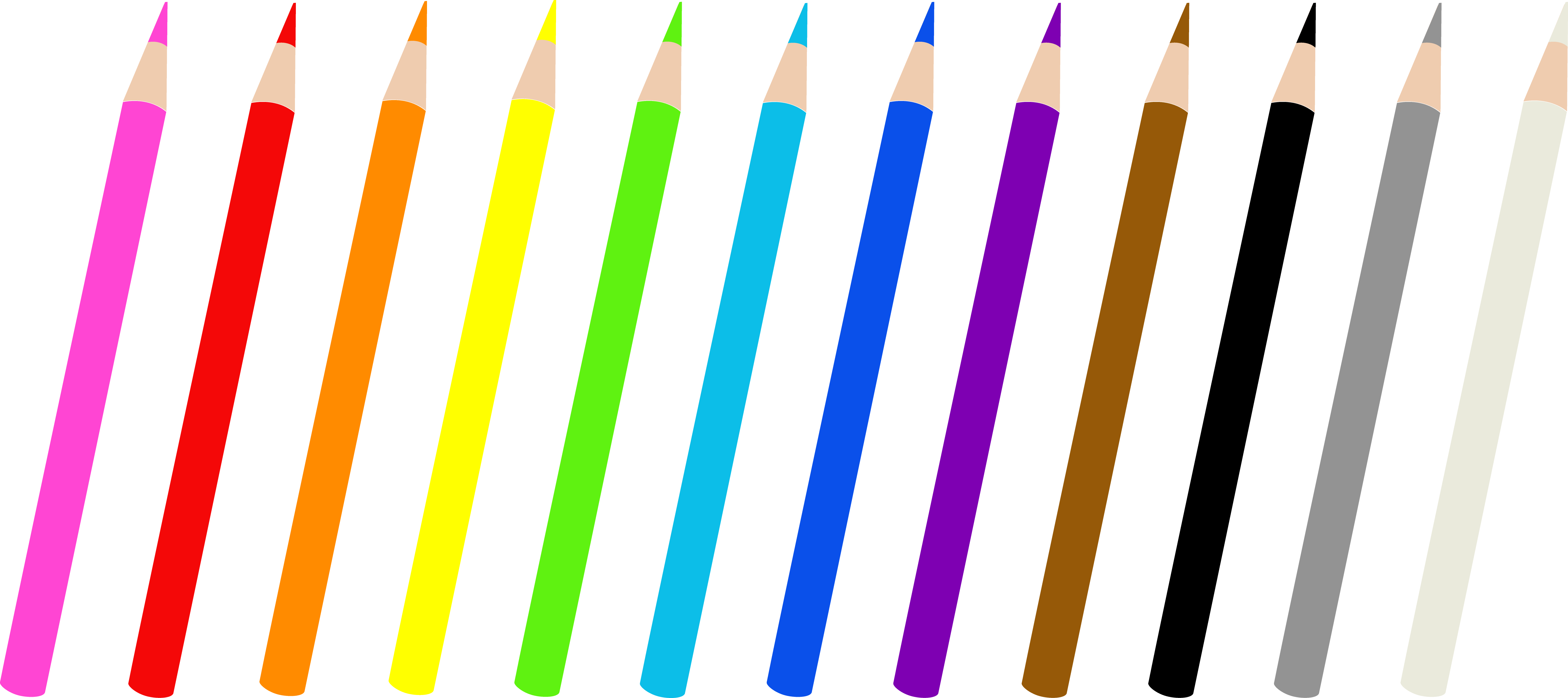6720x2993 Set Of Twelve Colored Pencils