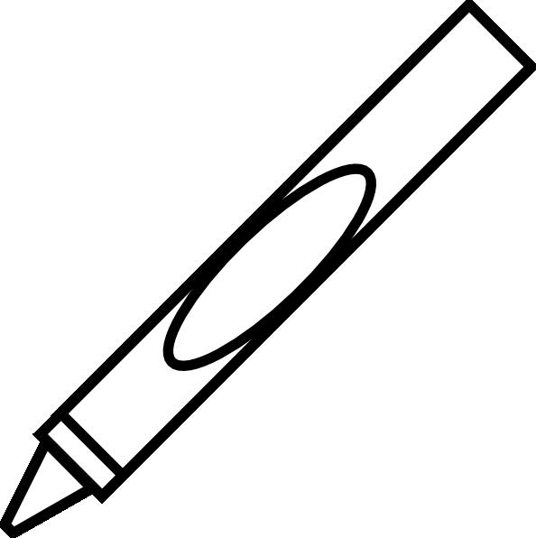594x596 White Crayon Clipart