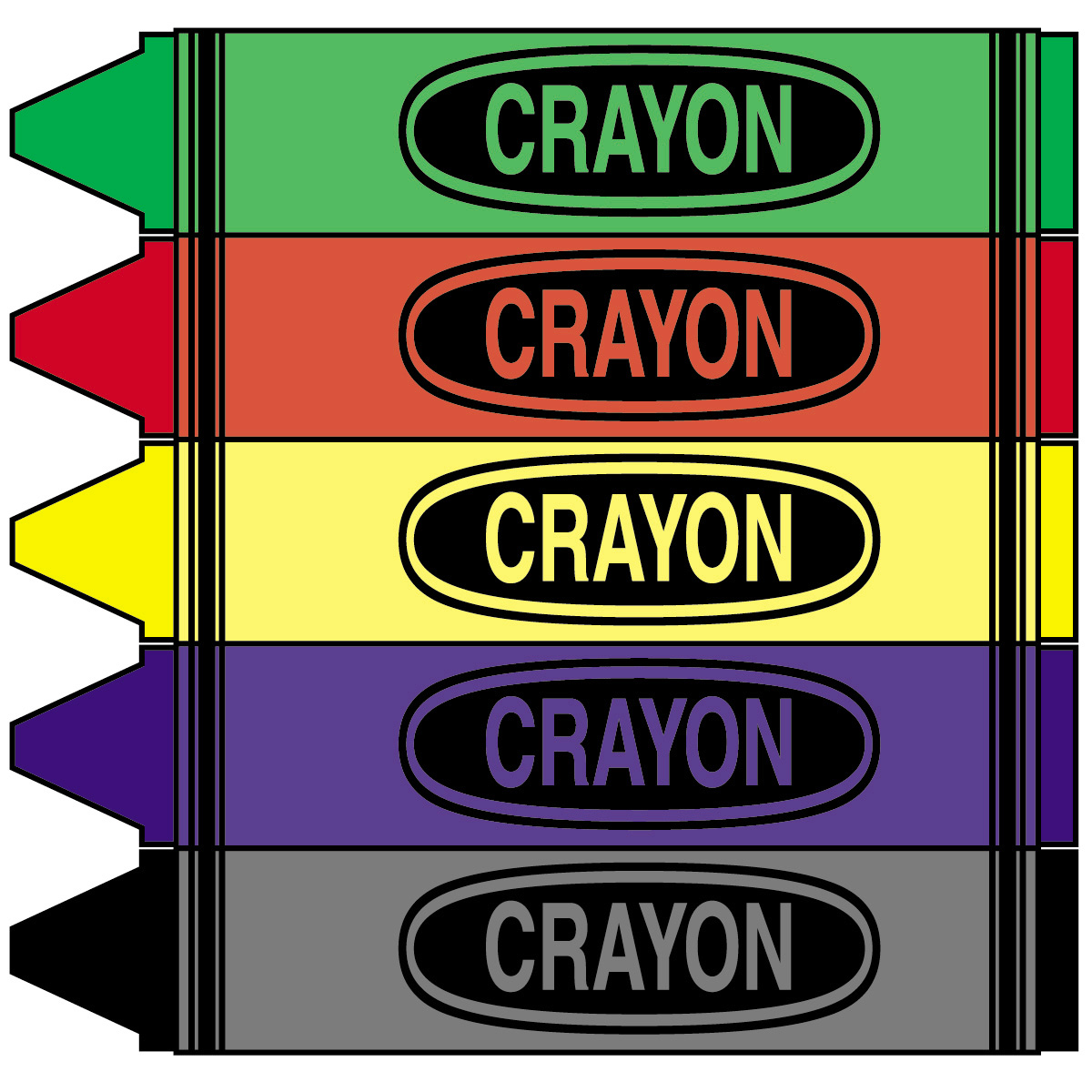 1200x1200 Crayons Clipart