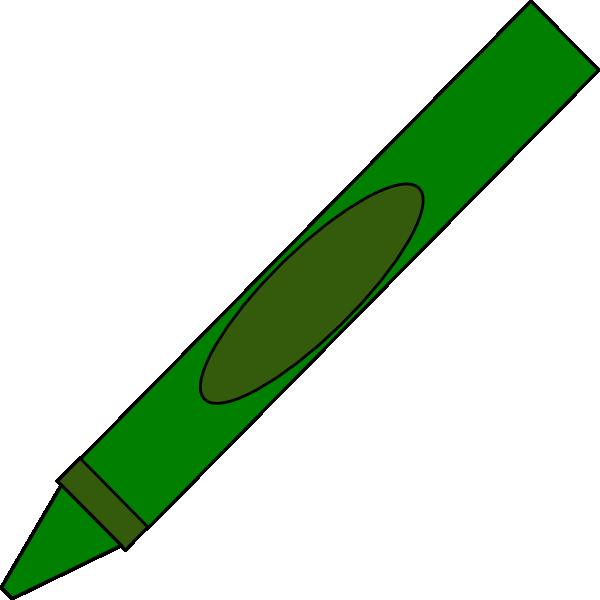 600x600 Free Green Crayon Clipart Image