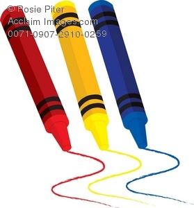 279x300 Clip Art Illustration Of A Set Of Crayons Drawing Spirals