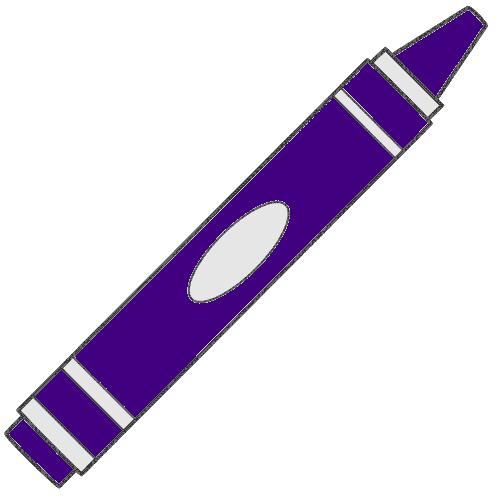 500x500 Purple Crayon Clipart