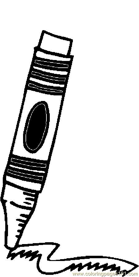 452x900 Crayon 3 Coloring Page
