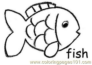320x227 Fish Crayon Coloring Page