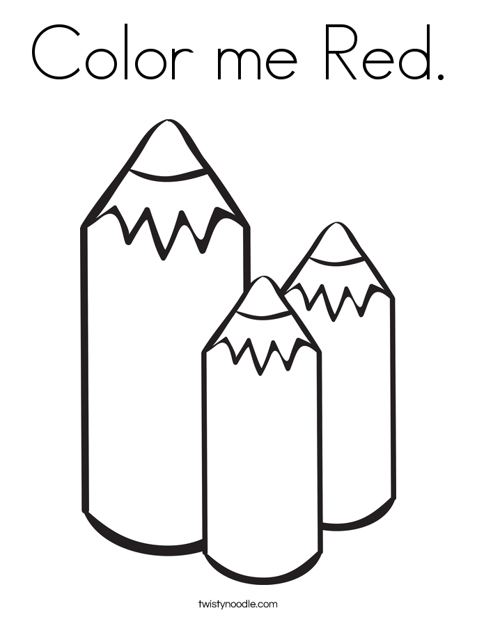 685x886 Color Me Red Coloring Page