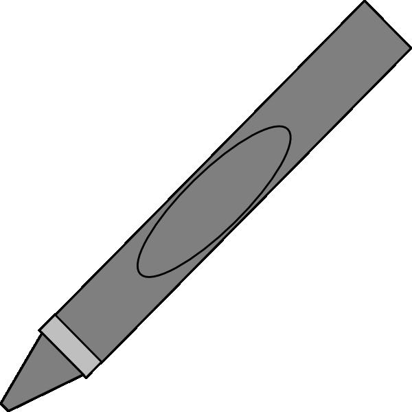 600x600 Gray Clipart Crayon