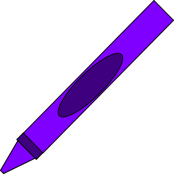 600x600 Purple Crayon Clipart