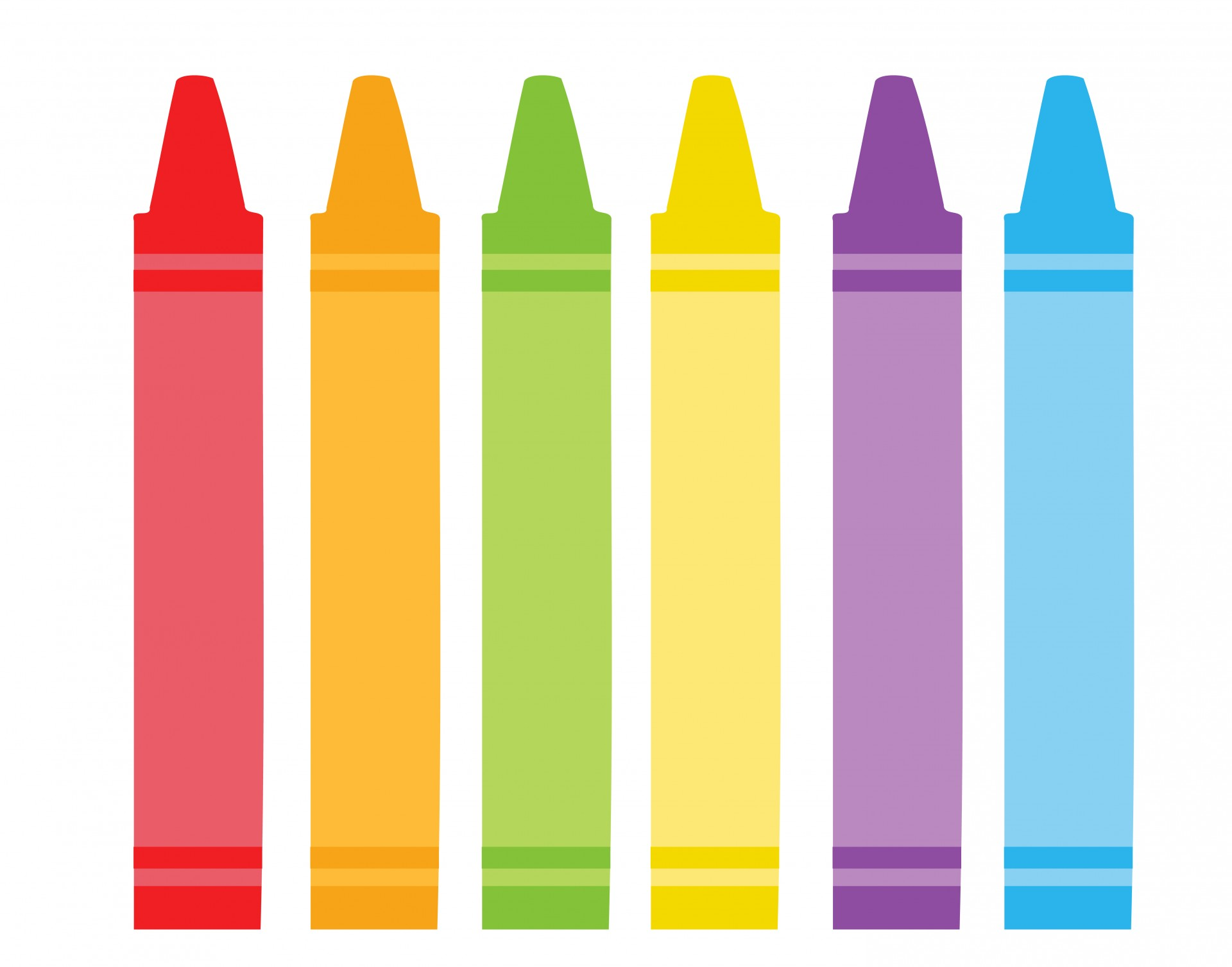 1920x1508 Colorful Crayons Clipart Free Stock Photo