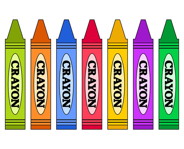 600x486 Colorful Clipart Crayon