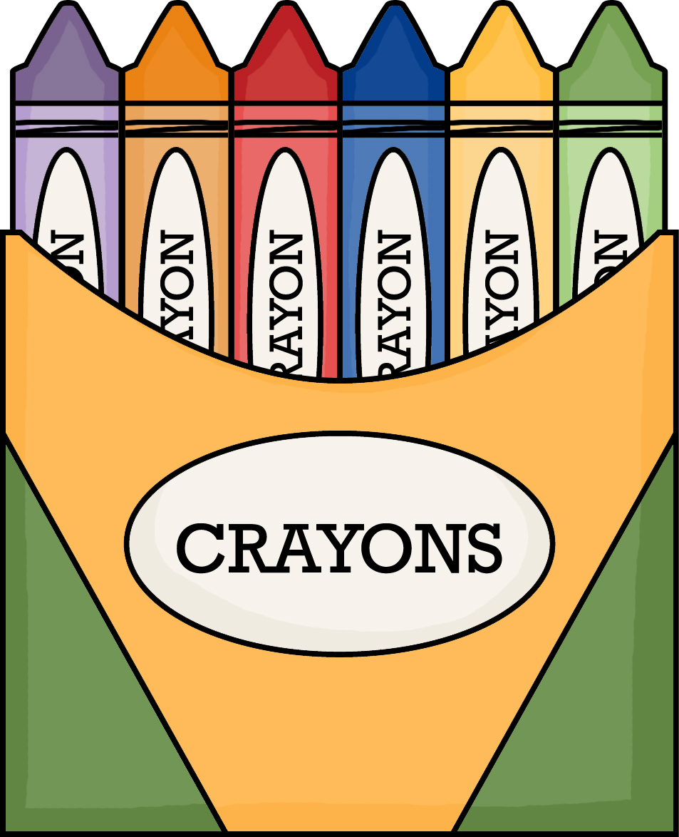 953x1174 Free Crayon Box Clipart Image