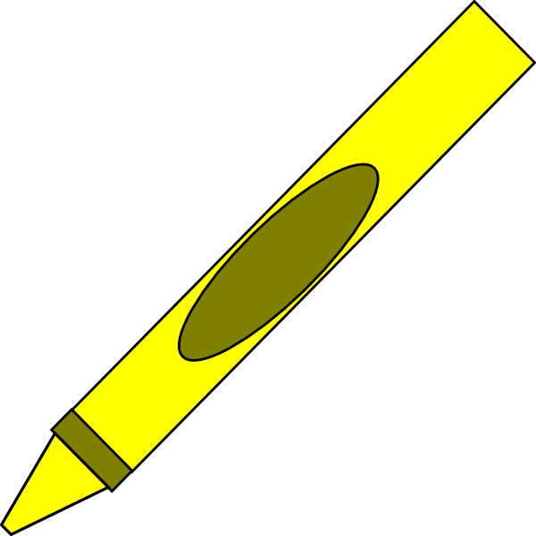 600x600 Yellow Crayon Clipart