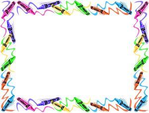 300x228 Crayon Border Clipart