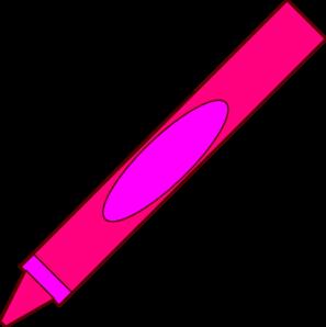 297x298 Crayon Clipart Pink Crayon