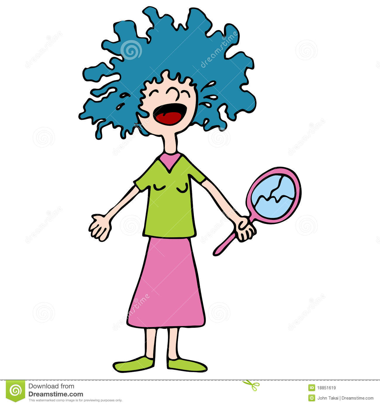 1300x1390 Crazy Hair Day Clipart