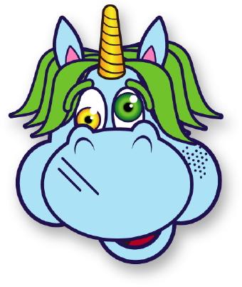 340x402 Crazy Unicorn Clip Art