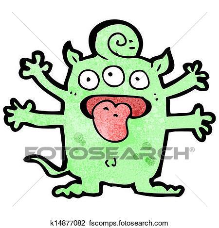 450x470 Clipart Of Cartoon Crazy Monster K14877082