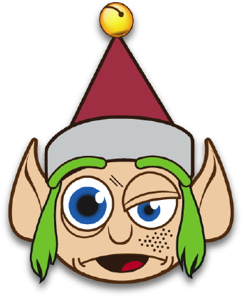340x416 Crazy Elf With Green Hair Clip Art