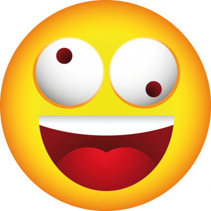 430x430 Crazy Face Clipart Smiley Crazy Face Clip Art Library Download