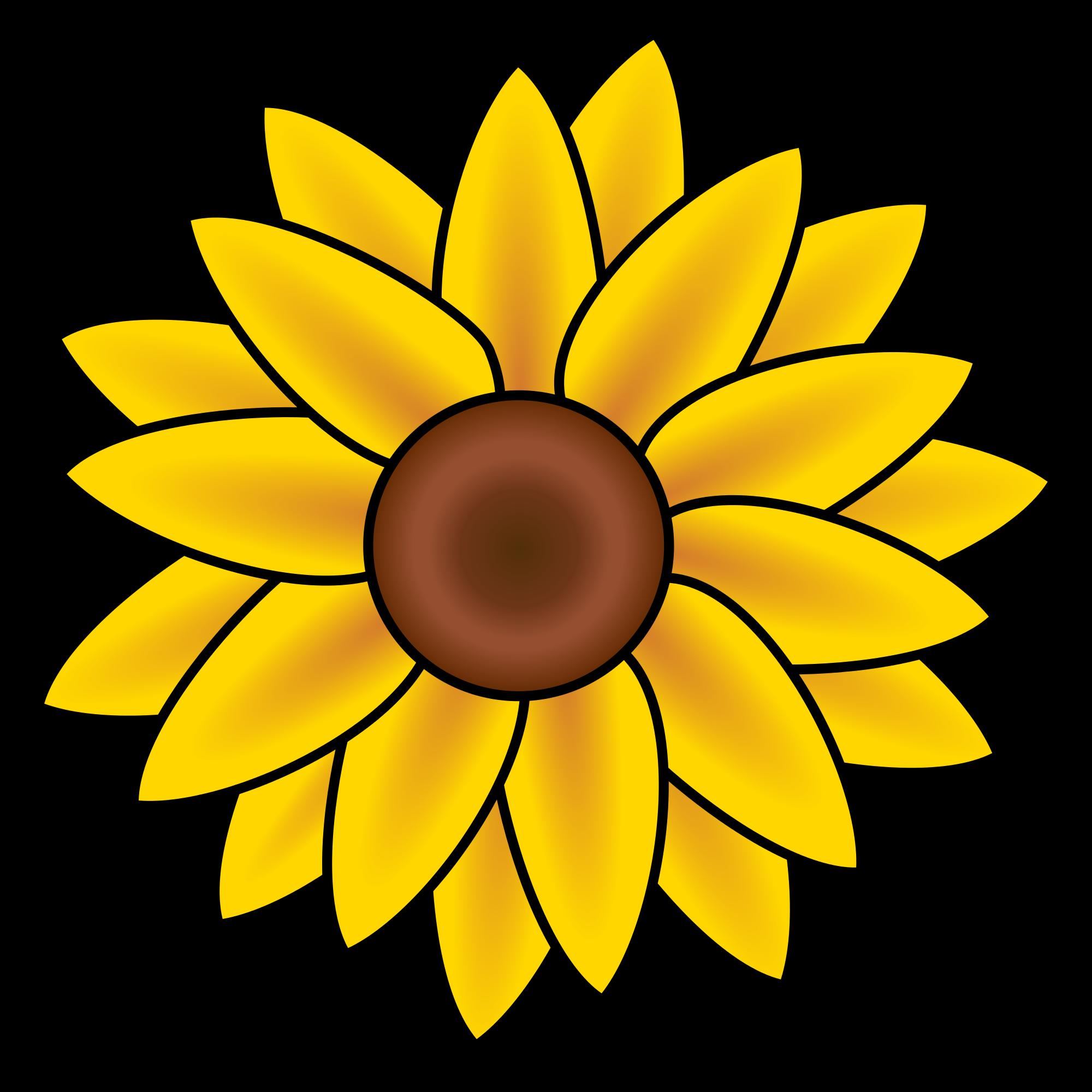 2000x2000 Filesunflower Clip Art.svg
