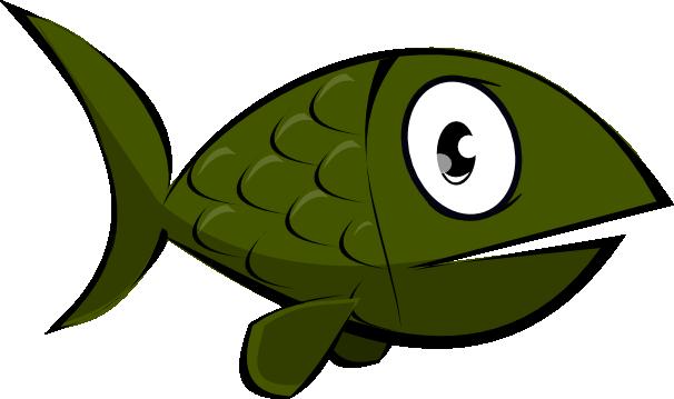 606x359 Free Green Fish Clip Art