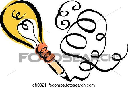 450x310 Clipart Of Creative Writing Cfr0021
