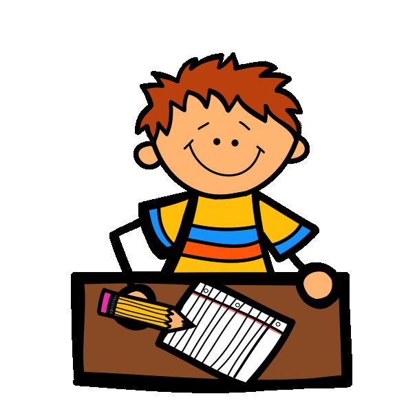 574x604 Desk Clipart Creative Writing