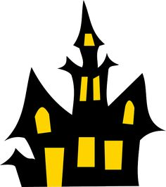 236x266 Scary House Silhouette Clip Art Quiet Books Scary