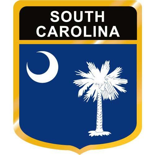 500x500 South Carolina Flag Crest Clip Art