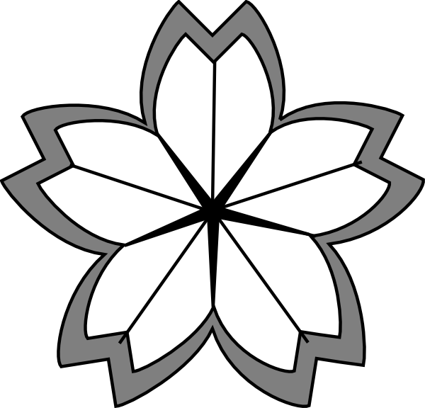 600x576 Cherry Blossom Crest 2 Clip Art