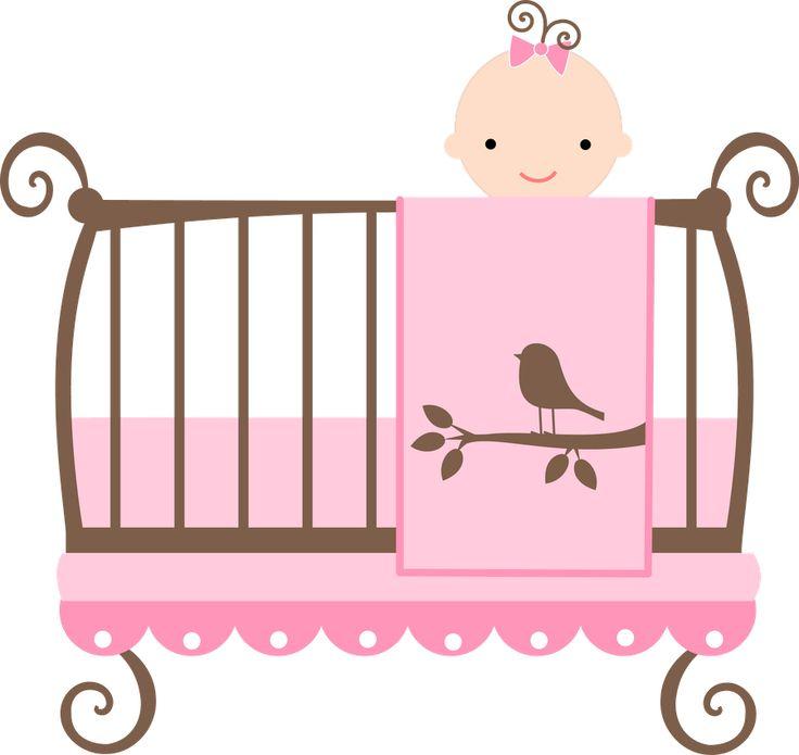 736x695 Baby Crib Clipart