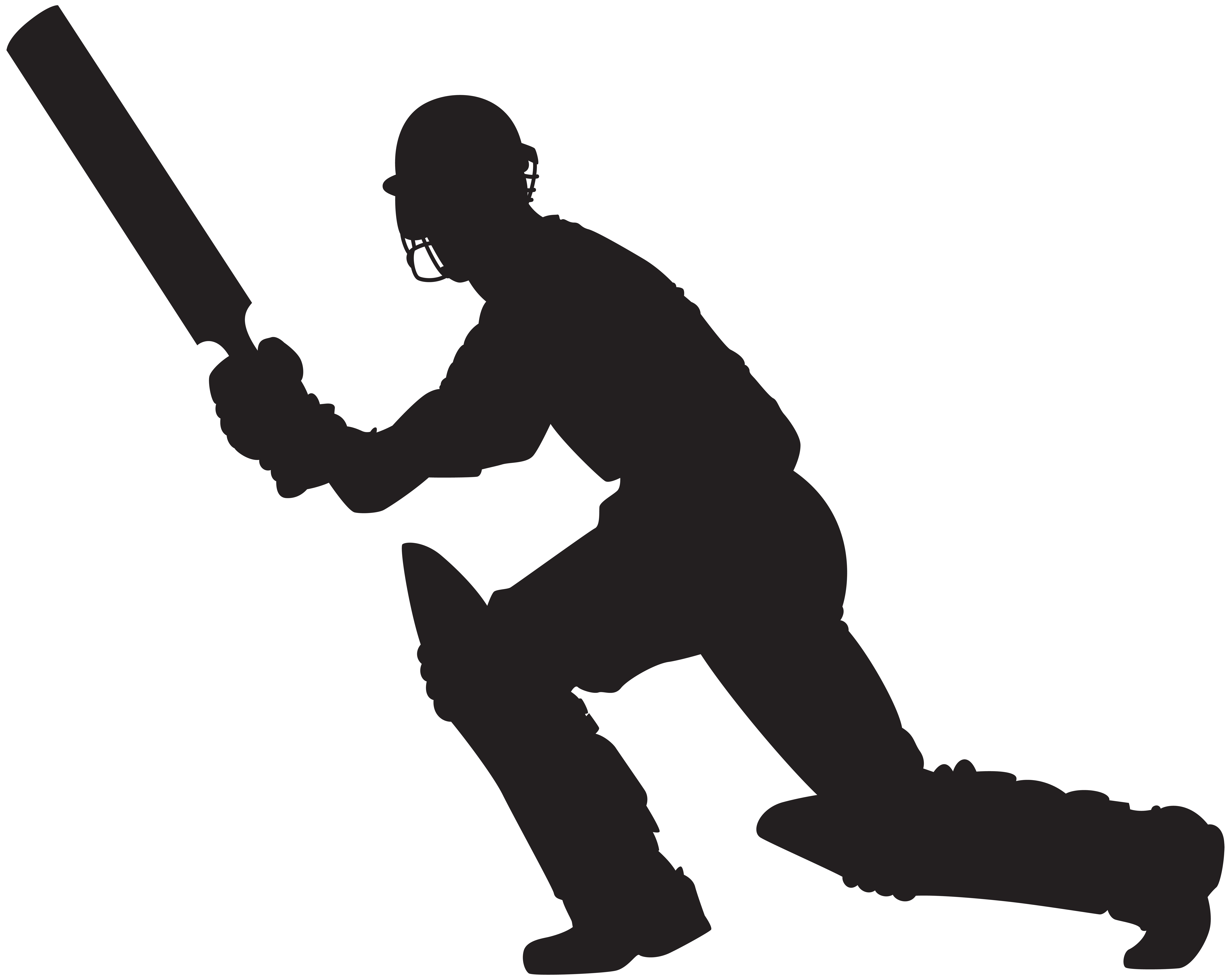 8000x6370 Cricket Player Silhouette PNG Clip Art Imageu200b Gallery