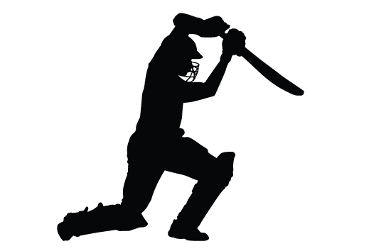 550x354 Cricket clipart shadow