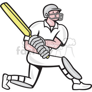 300x300 Royalty Free cricket batsman batting side 389900 vector clip art