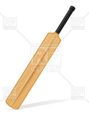 311x400 Diagonal Cricket Bat Royalty Free Vector Clip Art Image