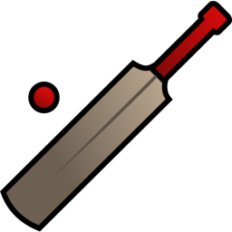 256x256 Free Cricket Bat Amp Ball Clip Art