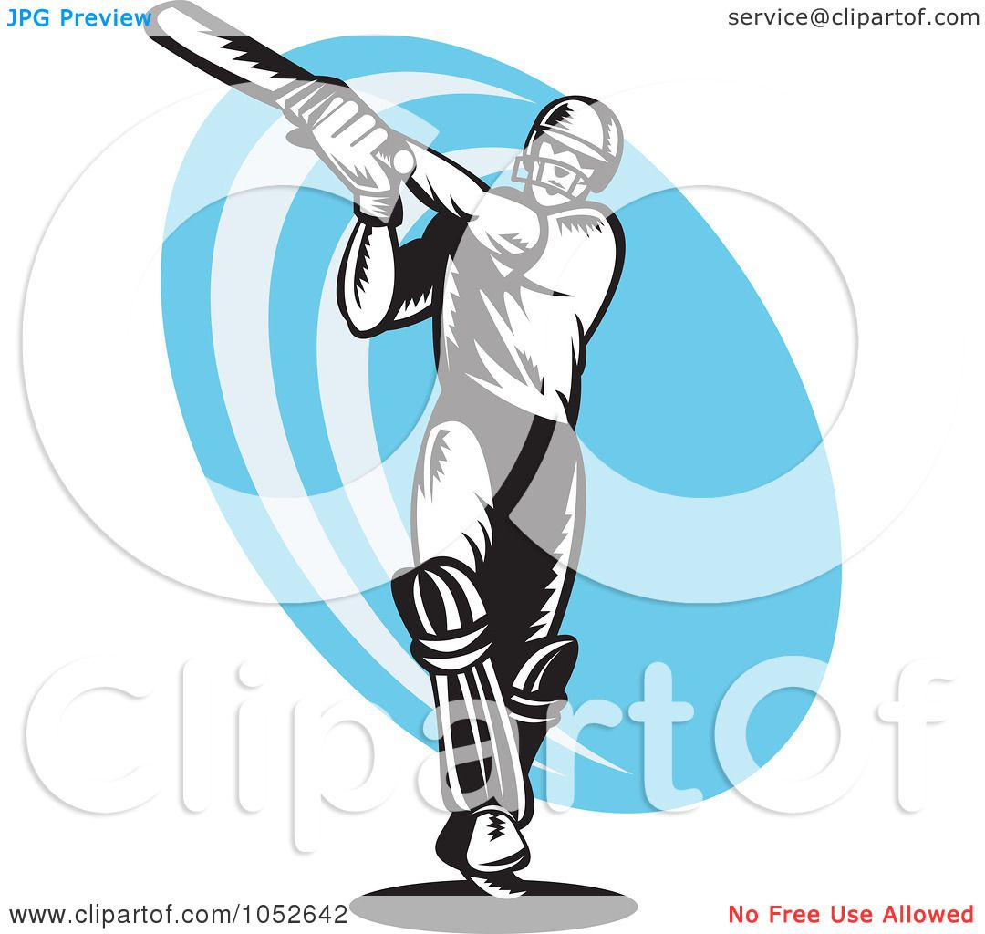 1080x1024 Royalty Free Vector Clip Art Illustration Of A Cricket Batsman