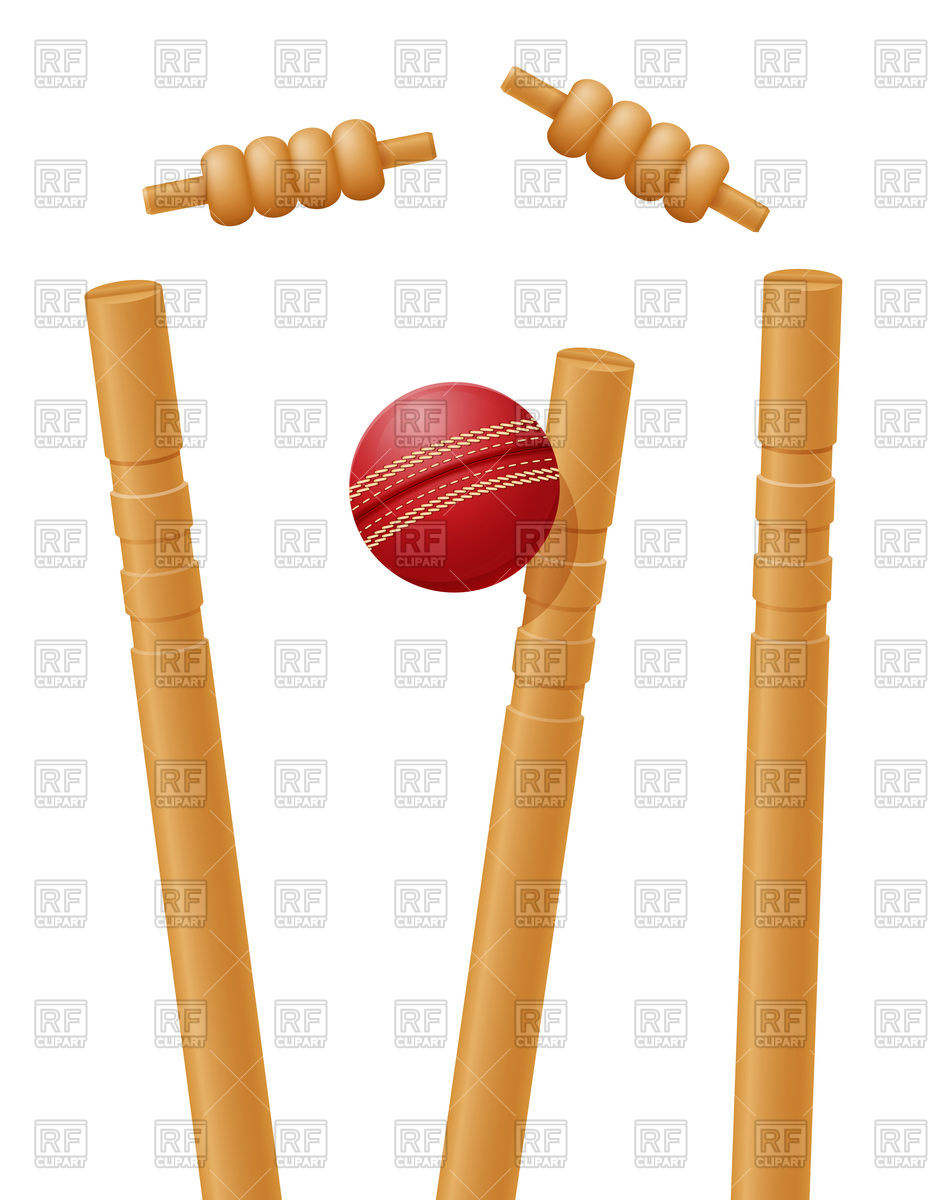 932x1200 Cricket Ball Caught In The Wicket Royalty Free Vector Clip Art