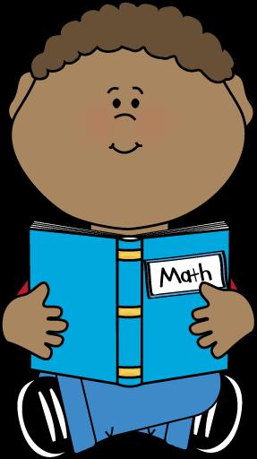 287x512 Boy Reading A Math Book Clip Art
