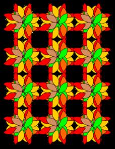 228x296 Criss Cross Flower Design Clip Art