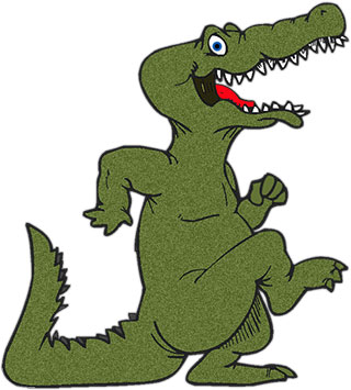 320x355 Crocodile Clipart Dancing