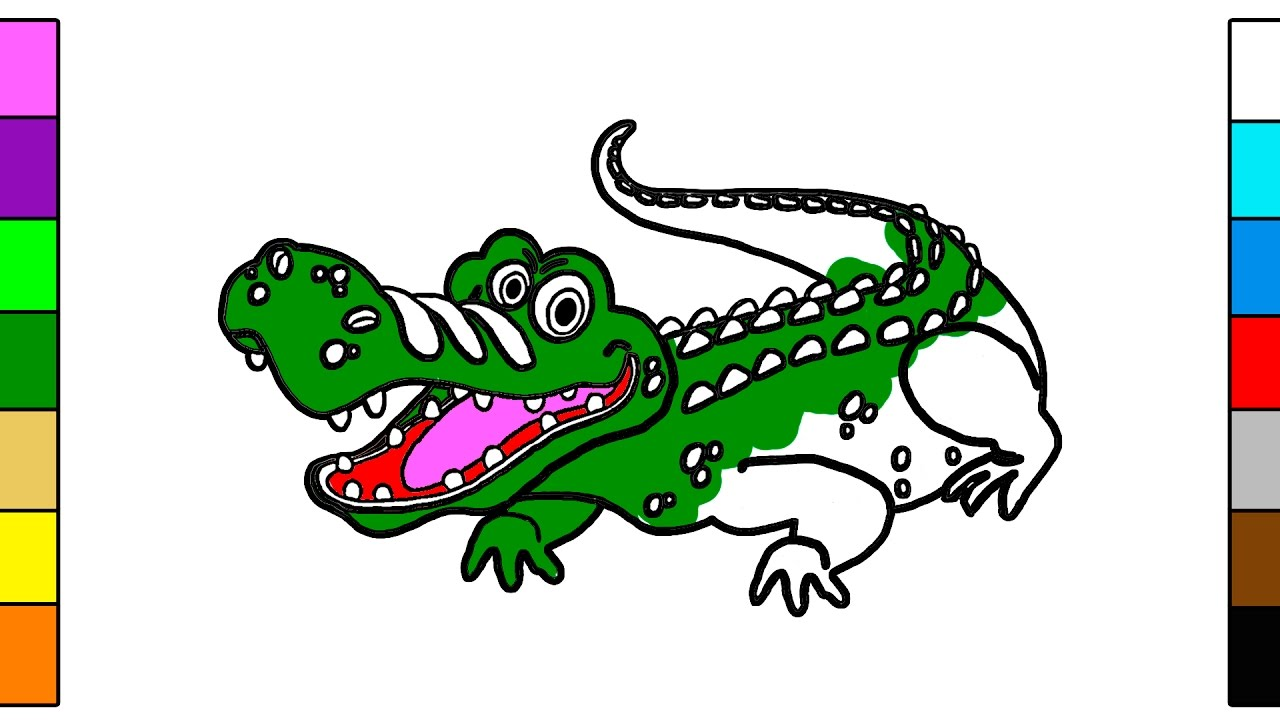 1280x720 How To Draw Big Crocodile