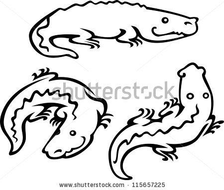 450x383 Black Amp White Clipart Crocodile