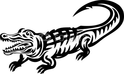 399x239 Crocodile Tribal Animals By Digital Clipart Free Vectors