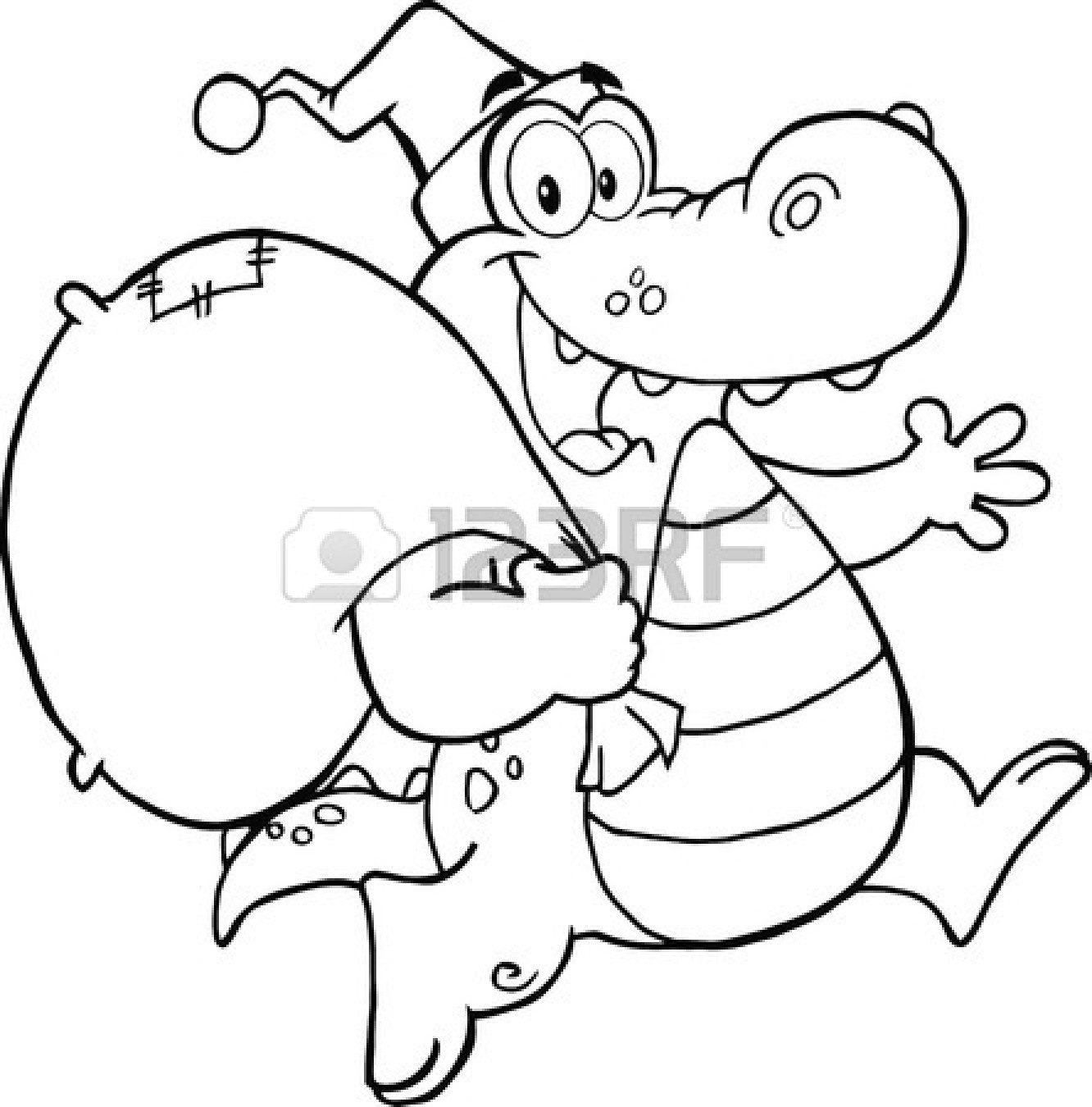 1332x1350 Cute Alligator Clipart Black And White Letters Example